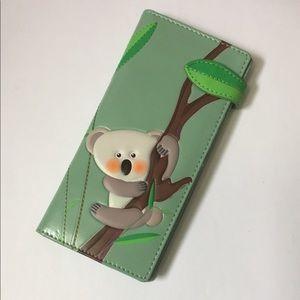 NWT Koala Bear Wallet - Vegan Leather - Cute